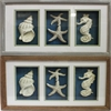 En112479 Elite Mdf Seashell Shadow Box - 2 Assorted, Grey, Brown, Blue