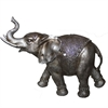Majestic Elephant Polyresin Decor, Antique Silver
