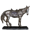 Divine Horse With Stand- Polyresin, Antique silver