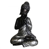 Uniquely Styled Buddha - Polyresin, Black
