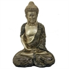Wonderful Buddha - Polyresin, Antique Gold & Black