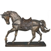 Charming Horse - Polyresin, Antique Gold