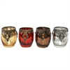 Striking T-Light Holder- 4 Assorted, Silver, Golden, Red