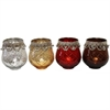 Stunning T-Light Holder- 4 Assorted, Silver, Golden, Red