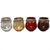 Stunning T-Light Holder- 4 Assorted, Silver, Golden, Red