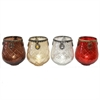 Incredible T-Light Holder - 4 Assorted, Brown, Antque Silver