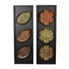 Benzara Set Of 2 Assorted Grand And Exquisite Flower Leaf Wall Decor