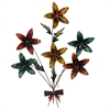 Benzara Stunning And Glossy Metal Floral Wall Decor