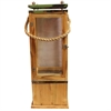 Classy Wooden Lantern, Natural Brown