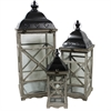 Benzara Impressive And Unique 3Pc Wooden Lantern