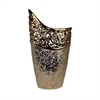 Enthralling Ceramic Vase, Golden, white, Black