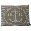 Stylish Anchor Design Jarquard Cushion, Taupe and white