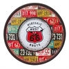 Stunning And Rustic Wooden Metal Route 66 Wall Clock