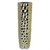 Beautiful Ceramic Vase In Golden Shade