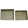 Captivating 2 Piece Rectangle Trays - Albalone Shell, Moss green