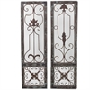 Classy Wooden Metal Wall Decor 2 Assorted, Metal/Glass