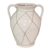 "Benzara 12"" Ceramic Vase, Ivory"