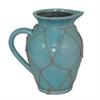"""Benzara 10"""" Ceramic Vase, Aqua"""