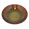 "Benzara 12"" Orange and Golden Glass Bowl, Orange and Gold"