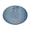 "Benzara 12"" Blue Glass Plate, Blue"