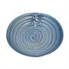 "Benzara 12"" Blue Glass Plate, Blue"