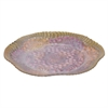 "Benzara 15"" Glass Votive Plate, Fuchsia"