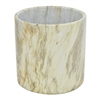 "Benzara 8"" Multicolor Stone Look Flower Pot, Multicolor"