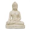 "Benzara 14460 21"" Resin Buddha Figurine, Antique White"