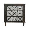 "Benzara 15289 37"" Wood Mirrored Cabinet, Brown"