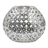 """Benzara 11.5"""" Silver Ceramic Vase Pierced, Silver"""