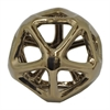 "Benzara 10"" Bronze Ceramic Orb, Bronze"