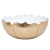 "Benzara 12"" Aluminium Bowl, Gold and White"