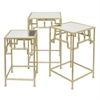 Distinctive Set Of 3 Metal Table Mirrored