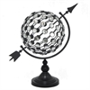"Benzara 17553 18"" Metal Jewelled Globe, Black"