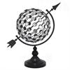 "Benzara 17553 18"" Metal Jewelled Globe, Black"