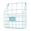 "Benzara 17724 12"" Metal Wall Rack, Blue"