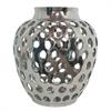 """Benzara 11.5"""" Silver Ceramic Vase"""
