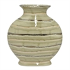 "Benzara 12"" Golden and Ivory Ceramic Vase, Gold and Ivory"