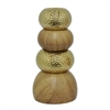 "Benzara 11.25"" Wood Look Ceramic Vase, Wood Look"