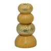 "Benzara 9"" Wood Look Ceramic Vase, Wood Look"