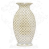 "Benzara 13.75"" Golden and White Ceramic Vase, Gold and White"
