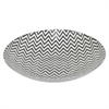 "Benzara 13"" Black and White Glass Bowl, BLACK and WHITE"