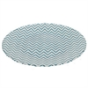 "Benzara 12.5"" Blue and White Glass Platter, BLUE and WHITE"