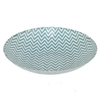 "Benzara 13"" Blue and White Glass Bowl, BLUE and WHITE"