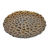 "Benzara 12.5"" Brown Glass Platter, Brown"