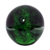 "Benzara 4.5"" Green Medium Glass Orb, Green"