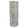 """Benzara 19"""" Silver Ceramic Vase, Silver"""