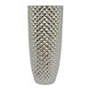 """Benzara 18"""" Silver Ceramic Vase, Silver"""
