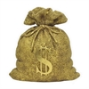 Benzara 26783 Golden Resin Money Bank, Gold