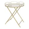Benzara Adorable Beveled Mirror Folding Table